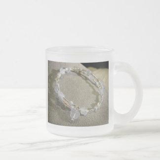 Krystals Blue Stars Frosted Glass Mug