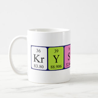 Krystina name gifts t shirts art posters other gift ideas krystina periodic table name mug urtaz Image collections