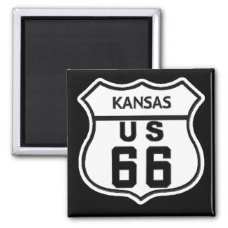 KS US ROUTE 66 MAGNET