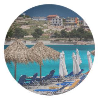 Ksamil, town beachfront plate