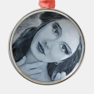 Ksenia Silver-Colored Round Decoration