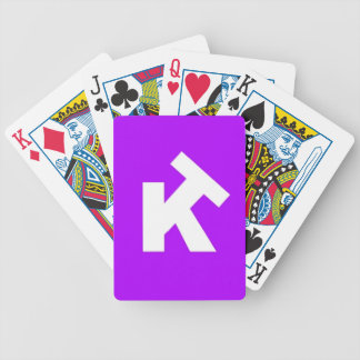 KT Back Purple Bicycle Playing Cards