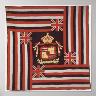 Kuʻu Hae Aloha (My Beloved Flag), Hawaiian cotton Poster