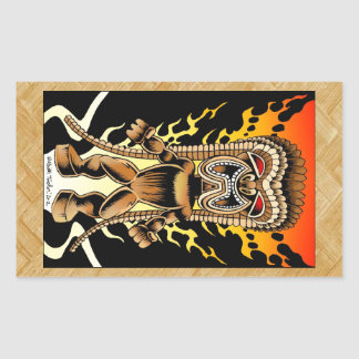 Ku, Hawaiian Tiki God Rectangular Sticker