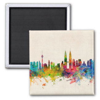 Kuala Lumpur Malaysia Skyline Magnet