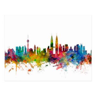Kuala Lumpur Malaysia Skyline Postcard