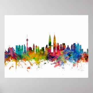 Kuala Lumpur Malaysia Skyline Poster