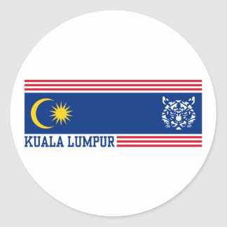 Kuala Lumpur Round Sticker