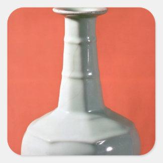 Kuan Yao octagonal bottle, Southern Sung Square Sticker