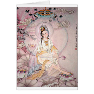 Kuan Yin; Buddhist Goddess Of Compassion Card