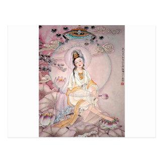 Kuan Yin; Buddhist Goddess Of Compassion Postcard