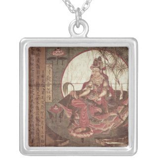 Kuan-yin, Goddess of Compassion Silver Plated Necklace