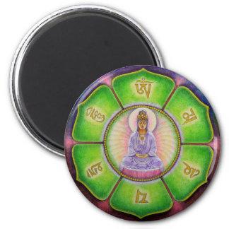 Kuan Yin Om Mani Padme Hum Magnet