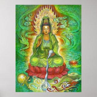 Kuan Yin s Water Dragon Poster