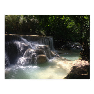 Kuang Si Waterfalls Postcard