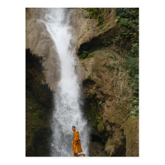 Kuang Sii Waterfall Monk Postcard