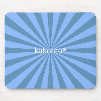 Kubunt Linux Blue StarBurst Mouse Pad