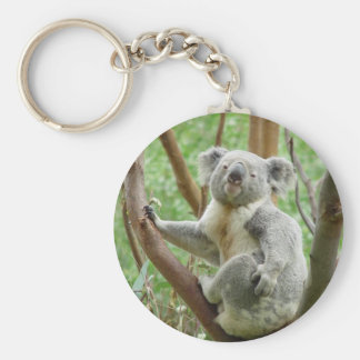 Kuddly Koala Basic Round Button Key Ring