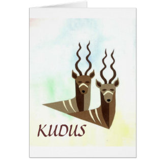 Kudus Kudos for a Job Well Done Notecard Card