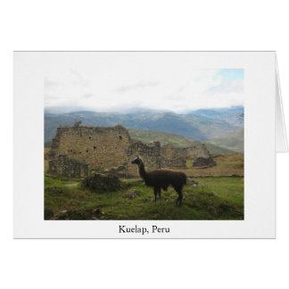 Kuelap, Peru greeting card