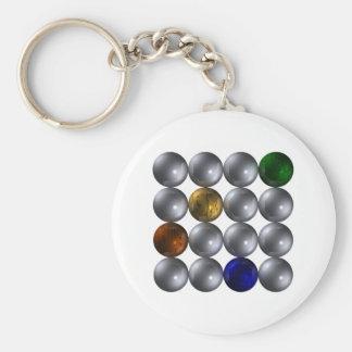 Kugeln Quadrat vier Farben spheres square Schlüsselanhänger