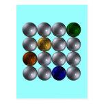 Kugeln Quadrat vier Farben spheres square Postkarte