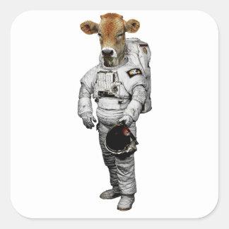 Kuh Astronaut Sticker