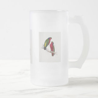 Kuhl's Parakeet Frosted Glass Beer Mug