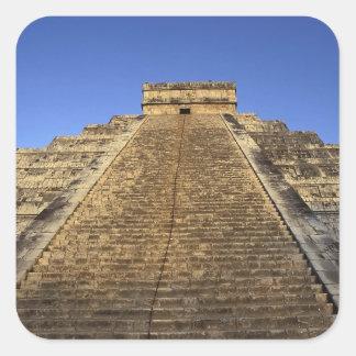 Kukulcan Temple or Castillo Castle) in 2 Square Stickers