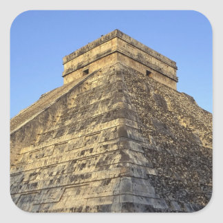 Kukulcan Temple or Castillo Castle) in Square Sticker