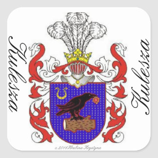 KULESZA FAMILY CREST LABELS SQUARE STICKER