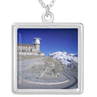 Kulm hotel and trail, Gornergrat, Zermatt, Silver Plated Necklace