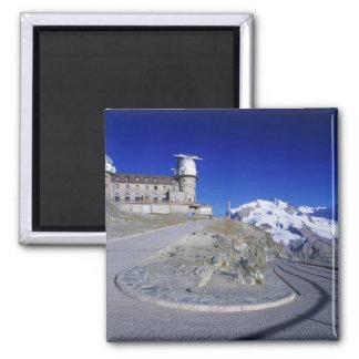 Kulm hotel and trail, Gornergrat, Zermatt, Square Magnet