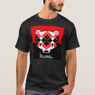 Kuma-chan black n' red argyle T-Shirt