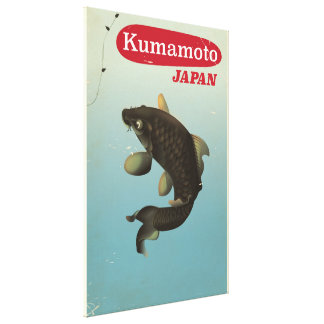 Kumamoto Japan vintage style travel poster Canvas Print
