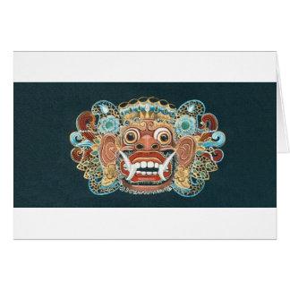 kumbakarna mask greeting card