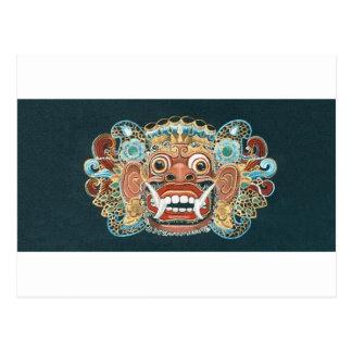 kumbakarna mask postcard