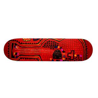 Kuna Indian Guitar Skateboard