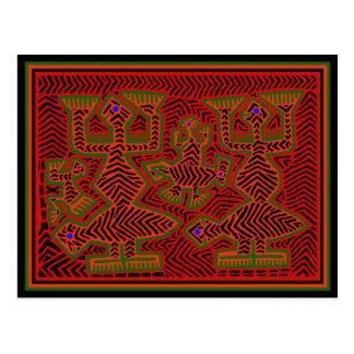 Kuna Indian Mola Spirits Postcard
