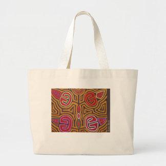 Kuna Mola- Pomegranate Canvas Bag