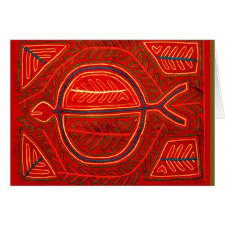 Kuna Mola Stingray Greeting Card