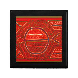 Kuna Mola Stingray Small Square Gift Box