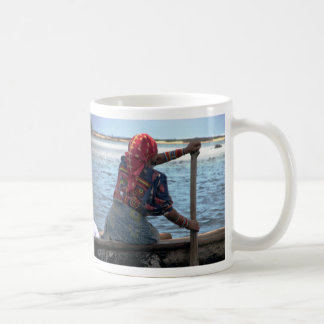 Kuna woman paddling ulu, East Lemmons, Kuna Yala Basic White Mug