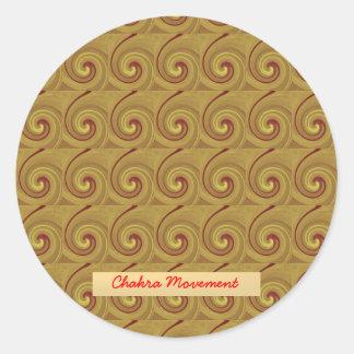 Kundalini Awakening Chakra Movement Round Sticker