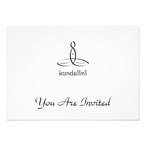 Kundalini - Black Fancy style Personalized Invite
