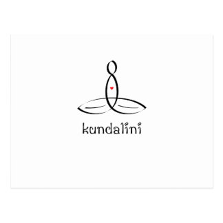 Kundalini - Black Fancy style Postcard