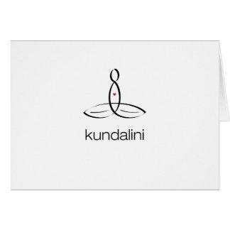 Kundalini - Black Regular style Stationery Note Card