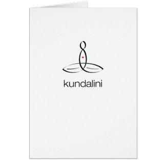 Kundalini - Black Regular style Greeting Card