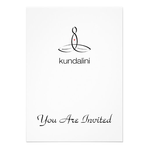 Kundalini - Black Regular style Personalized Announcements