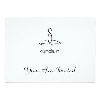 Kundalini - Black Regular style 5x7 Paper Invitation Card